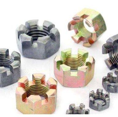 Углеродистая сталь шлицевая гайка оцинкованная