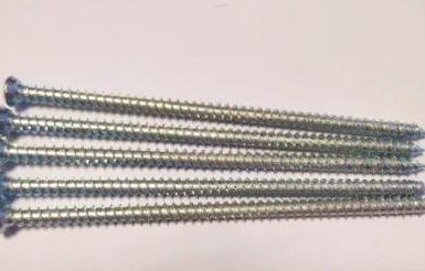 Бетонный винт torx pozi 6 наконечников из белого цинка